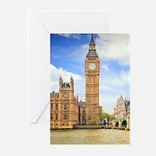 London Bridge And Big Ben Greeting Cards