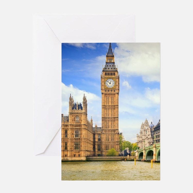 London Bridge And Big Ben Greeting Cards