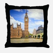 London Bridge And Big Ben Throw Pillow