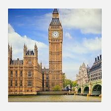 London Bridge And Big Ben Tile Coaster