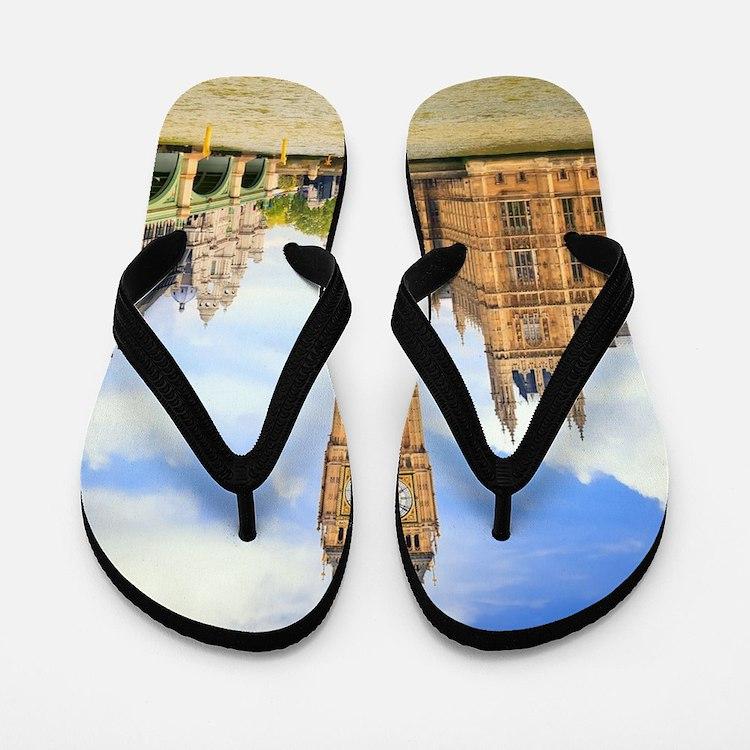 London Bridge And Big Ben Flip Flops