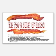 THE TOP 5 RULES OF BACON Decal