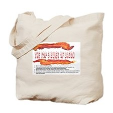 THE TOP 5 RULES OF BACON Tote Bag