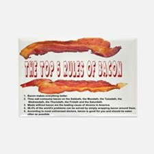THE TOP 5 RULES OF BACON Rectangle Magnet