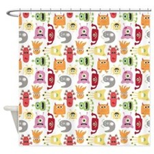 Lil' Monsters Shower Curtain