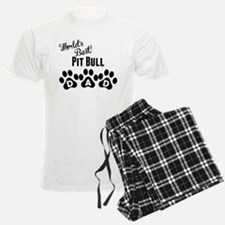 Worlds Best Pit Bull Dad Pajamas