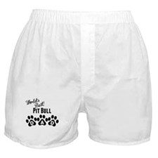 Worlds Best Pit Bull Dad Boxer Shorts