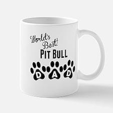Worlds Best Pit Bull Dad Mugs