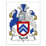 Tyrell Family Crest Small Poster