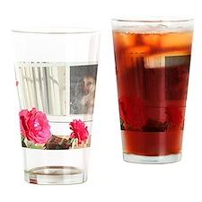 Tara's Rosey Window Drinking Glass
