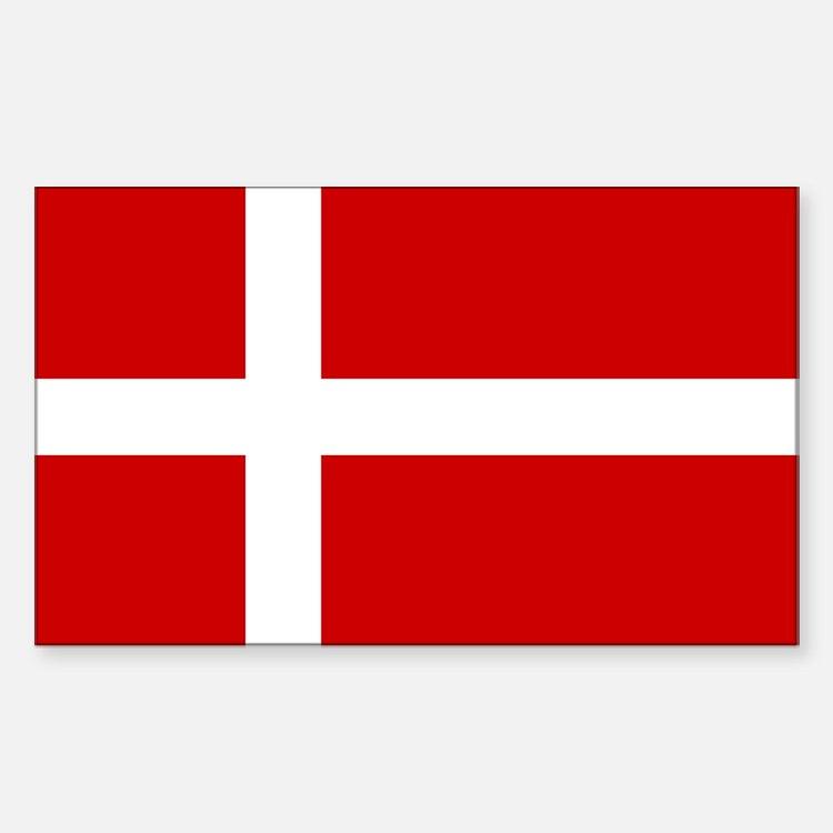 Danish Flag Rectangle Decal