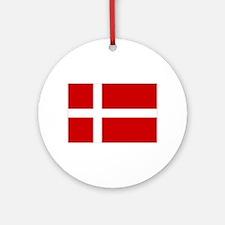 Danish Flag Ornament (Round)