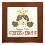 Daddy's Princess Pink Brown Framed Tile