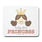 Daddy's Princess Pink Brown Mousepad