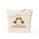 Daddy's Princess Pink Brown Tote Bag