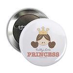 Daddy's Princess Pink Brown Button