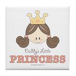Daddy's Princess Pink Brown Tile Coaster