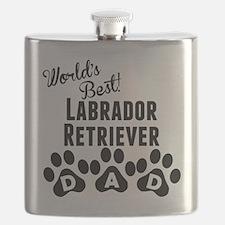 Worlds Best Labrador Retriever Dad Flask