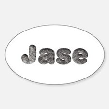 Jase Wolf Oval Decal