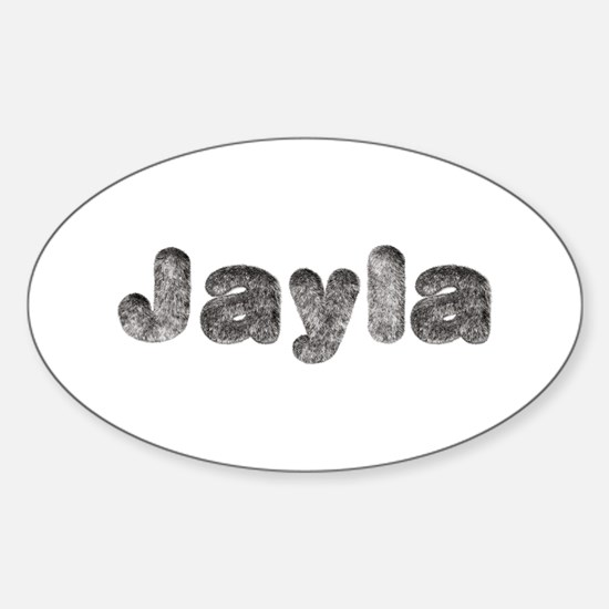 Jayla Wolf Oval Decal