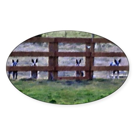 Oval Sticker - At the Fence Line