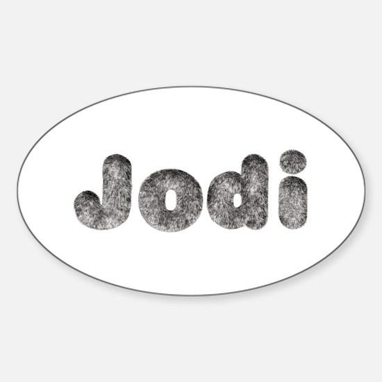 Jodi Wolf Oval Decal
