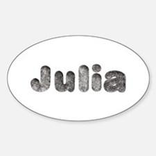 Julia Wolf Oval Decal