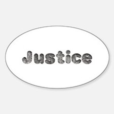Justice Wolf Oval Decal