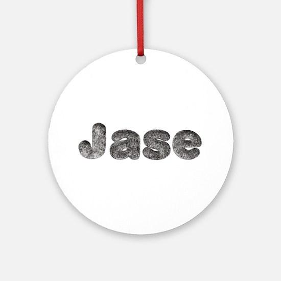 Jase Wolf Round Ornament