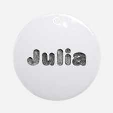 Julia Wolf Round Ornament