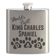 Worlds Best King Charles Spaniel Dad Flask