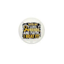 Childhood Cancer Survivor FamilyFriend Mini Button