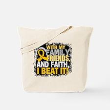 Childhood Cancer Survivor FamilyFriendsFa Tote Bag