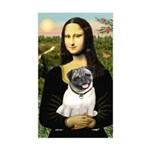 Mona's Fawn Pug Sticker (Rectangle)