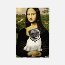 Mona's Fawn Pug Rectangle Magnet