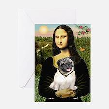 Mona's Fawn Pug Greeting Card