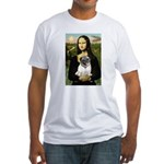 Mona's Fawn Pug Fitted T-Shirt