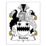 Twine Family Crest Small Poster