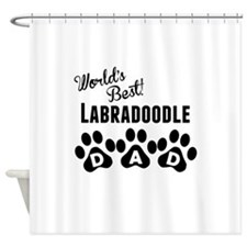 Worlds Best Labradoodle Dad Shower Curtain
