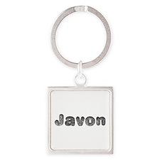 Javon Wolf Square Keychain