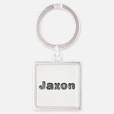 Jaxon Wolf Square Keychain