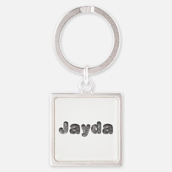 Jayda Wolf Square Keychain