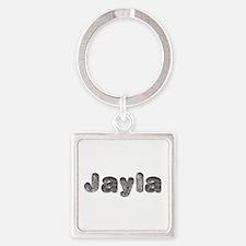 Jayla Wolf Square Keychain