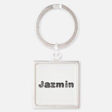 Jazmin Wolf Square Keychain