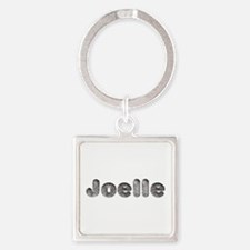 Joelle Wolf Square Keychain
