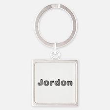 Jordon Wolf Square Keychain