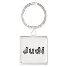 Judi Wolf Square Keychain