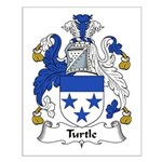 Turtle Family Crest Small Poster