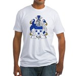 Turtle Family Crest Fitted T-Shirt