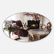 Merry Christmas Tara Sticker (Oval)